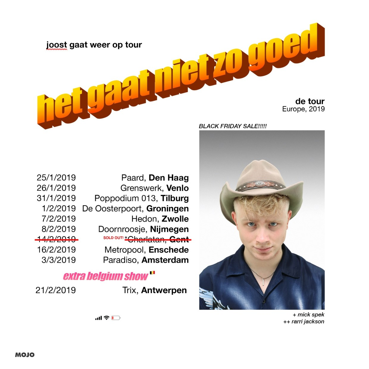 Joost tour poster
