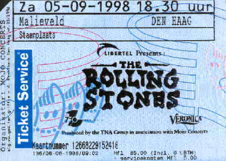 Rollingstones Malieveld Ticket